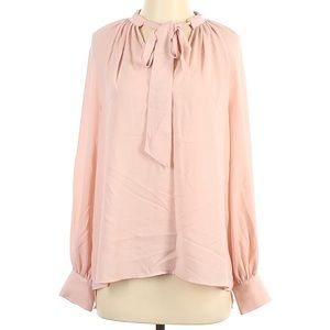 Halogen Pink Shirt with tie at neck size XS